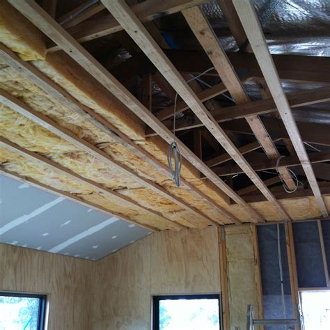 Timber Ceiling Battens by Putting Up The Ceiling 60k House