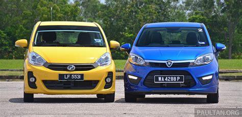 perodua myvi vs proton new saga blm review comparison proton iriz autos post