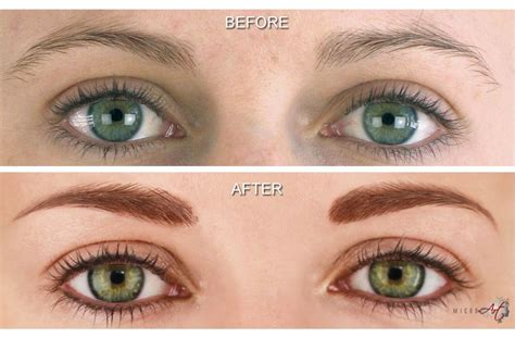 permanent eyeliner tattoo before after photos of microart semi permanent makeup