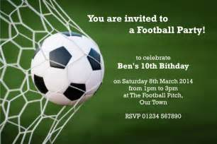 personalised childrens football birthday party invitations