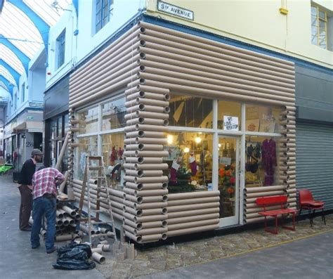 Cabin Store by Cardboard Log Cabin Shop Unveiled In Brixton