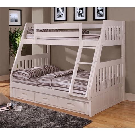shop twin  full bunk bed   drawers