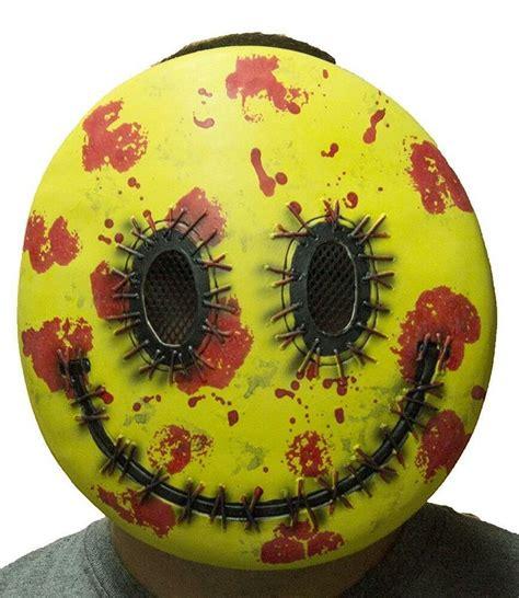 happy bloody smiley face mask fancy dress halloween adult