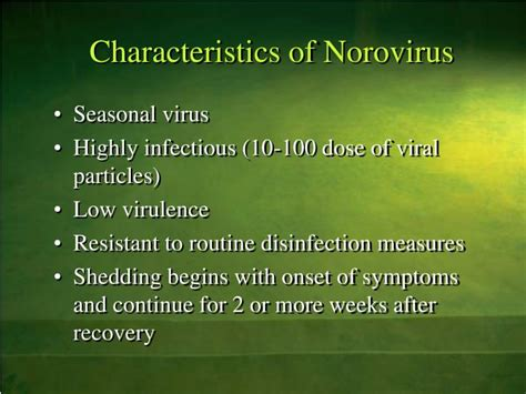 Virus Shedding Definition by Ppt Of Norovirus Powerpoint Presentation Id