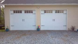 Garage Single Door 2 Single Garage Doors With Hardware 2 Pineville Nc A Plus Garage Doors