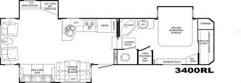 bighorn floor plans 2008 heartland bighorn 3400rl fifth wheel owatonna mn