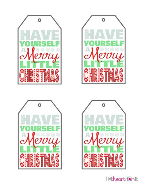 christmas printable    merry  christmas fivehearthome