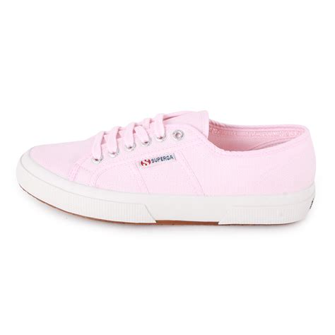light pink and white shoes superga 2750 cotu womens canvas trainers light pink new