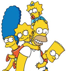 cartoon characters: los simpsons