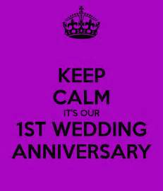 keep calm it s our 1st wedding anniversary poster cat