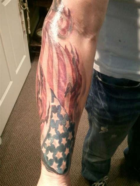 american flag tattoo on lower american flag on lower arm 187 ideas