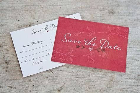 free save the date postcard templates freebies
