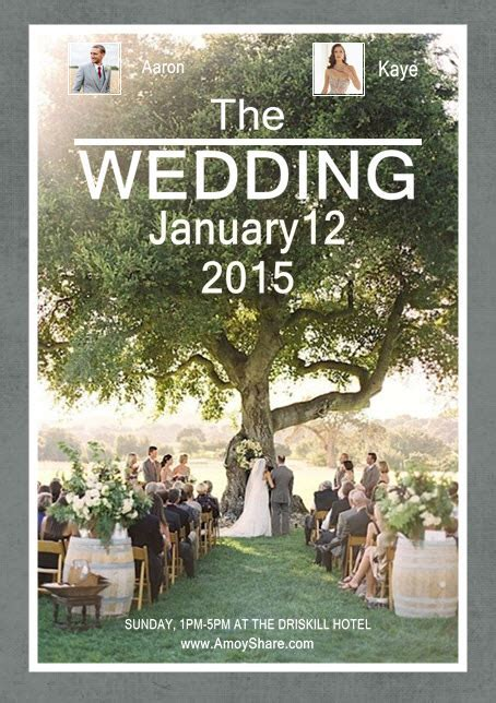 Design Your Stylish Wedding Poster by One Simple Collage