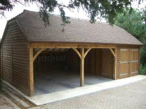 Timber Car Port by Wood Garage Uk S 248 Gning Country Home Garage