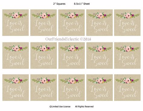 wedding tags is sweet tags printable wedding favor tags is