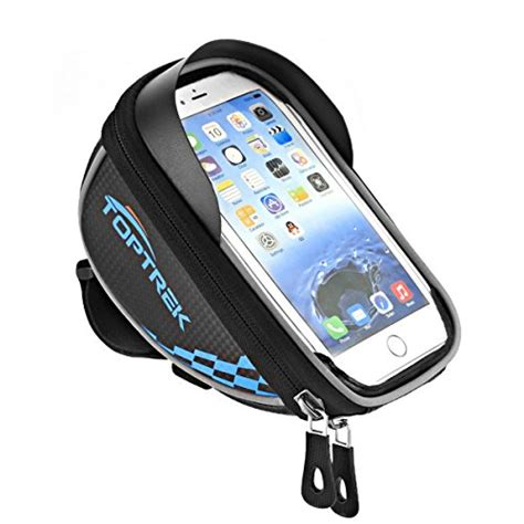 Jual Bike Waterproof Bag 5 5 Inch Smartphone Tas Frame Sepeda Hp Anti toptrek cycling bicycle bike top handlebars bag phone mount holder for iphone 7 plus