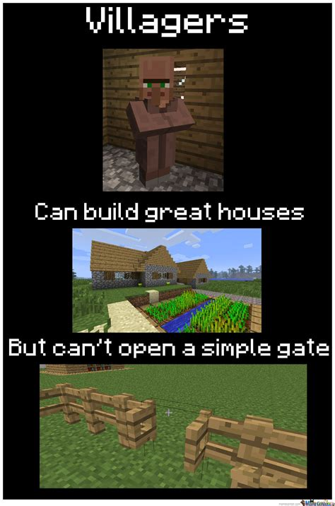 Villager Memes - villagers logic by recyclebin meme center