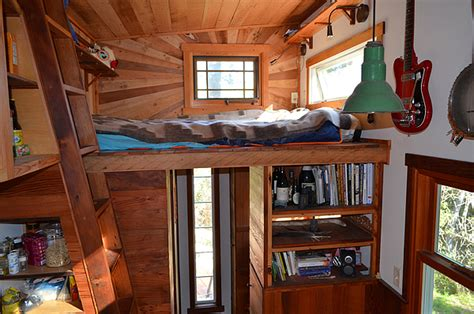 how to build your own tiny house loft with bedroom guest colin s coastal cabin