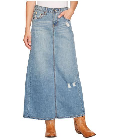 stetson denim skirt w back slit zappos free