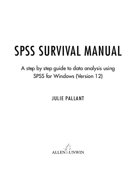 spss manual survival spss survival manual for every student