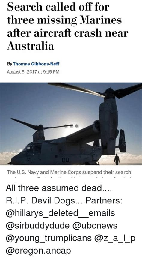 devil z crash search called off for three missing marines after aircraft