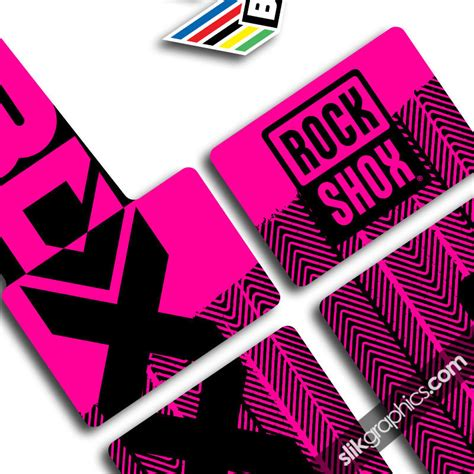 Rock Shox Pink Stickers by 2012 Factory Neon Boxxer Decals Slik Graphics