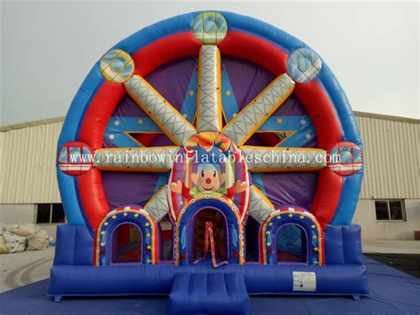 Paw Patrol Amusement Park Besar Product Code Dol 0365 commercial ferri wheel combo castle for theme