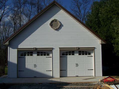 Two Car Garage With Loft by Pole Barn Attictruss Buildings Tam Lapp Construction Llc