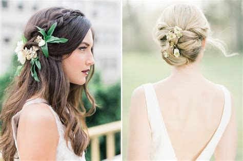 Real Wedding Hairstyles For Hair by 20 Bridal Hairstyles With Real Flowers Southbound