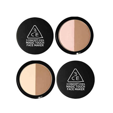 Concealer Foundation Magic Touch Maker 3ce 3ce magic touch maker contour powder duo compact powder korean highlight and contour