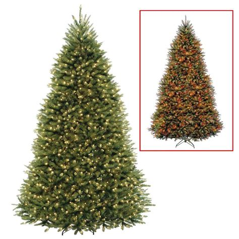 9 foot led tree national tree company 10 ft dunhill fir artificial