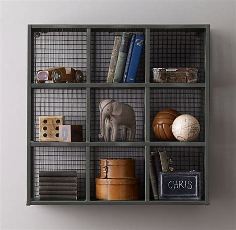 Wire Cube Shelf by Industrial Wire 9 Cube Shelf