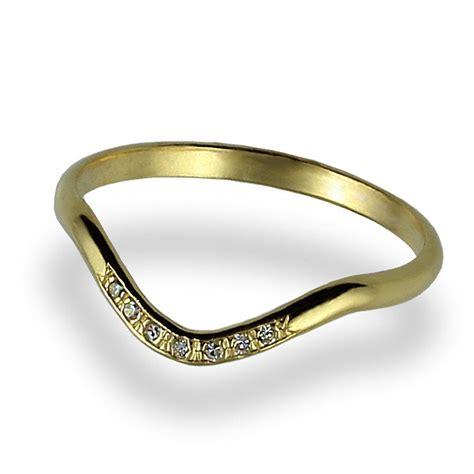 engagement ring wave engagement ring 14k yellow