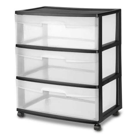 sterilite 3 drawer wide cart dimensions sterilite 21 88 in 3 drawer wide cart 1 pack 29309001