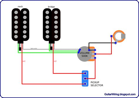 guitar wiring diagram 2 humbucker 1 volume 1 tone wiring diagram guitar wiring diagram 2 humbucker 1 volume