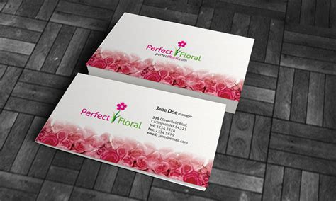 beautiful red roses business card template 187 free download