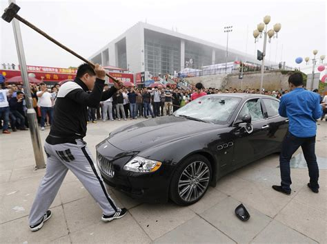 maserati china destroys his 423 000 maserati in china business insider