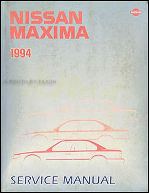 1994 nissan maxima repair shop manual original