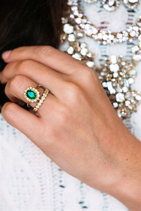 17 best ideas about emerald wedding rings on