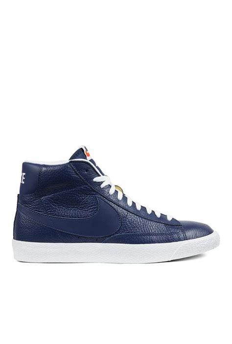 Nike Sneakers High Navy buy nike blazer mid prm navy ankle high sneakers for