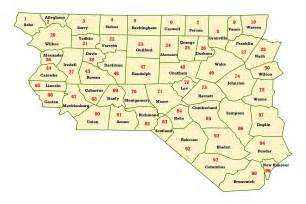 map of central carolina wims county id maps