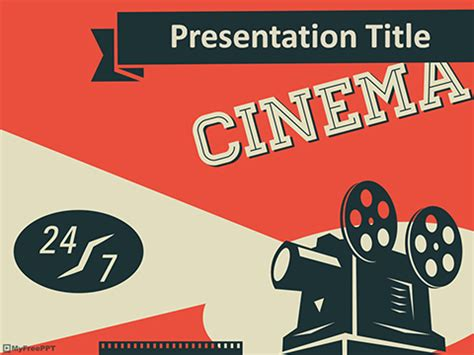 movie film powerpoint template free cinema powerpoint