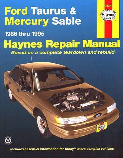 automobile air conditioning repair 1998 mercury sable free book repair manuals ford taurus mercury sable repair manual 1986 1995 haynes