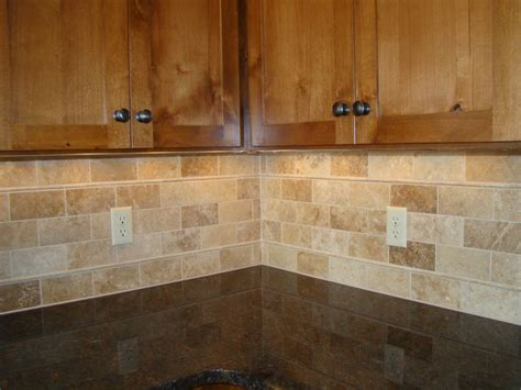 backsplash tile subway travertine mom and tim s new home pinterest travertine kitchens