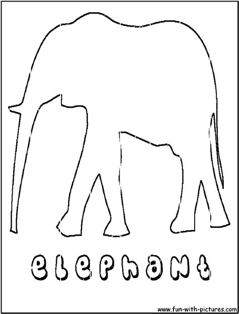 elephant outline coloring pages asian elephant outline coloring page
