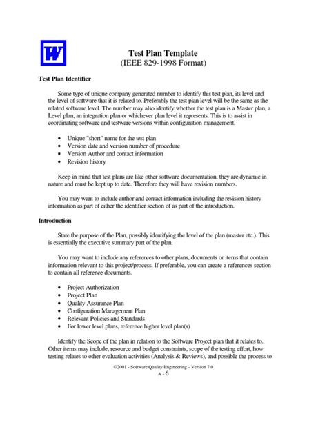 ieee 829 test strategy template excellent ieee test plan template photos resume ideas