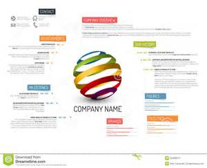 Business Overview Template Company Overview Template Stock Illustration Image 55406577