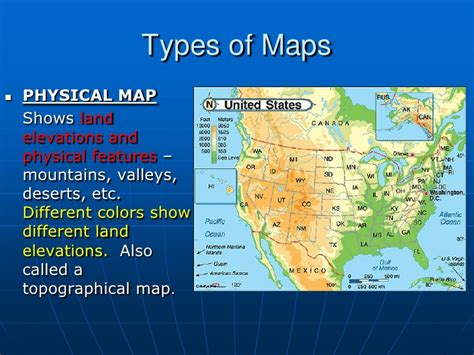 different types of maps types of maps