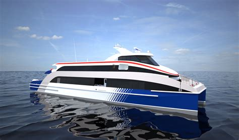 a small motor boat travels 10 mph highly efficient damen fast ferry ship 4010 with choice of