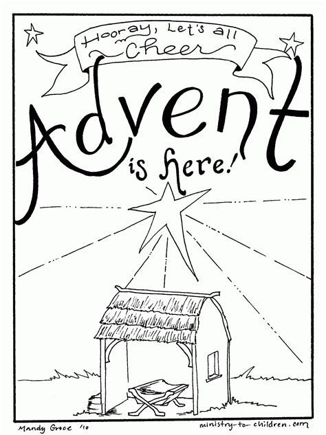 Advent Coloring Page advent coloring pages to print coloring home